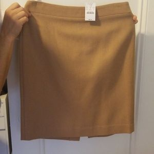 Camel color wool skirt